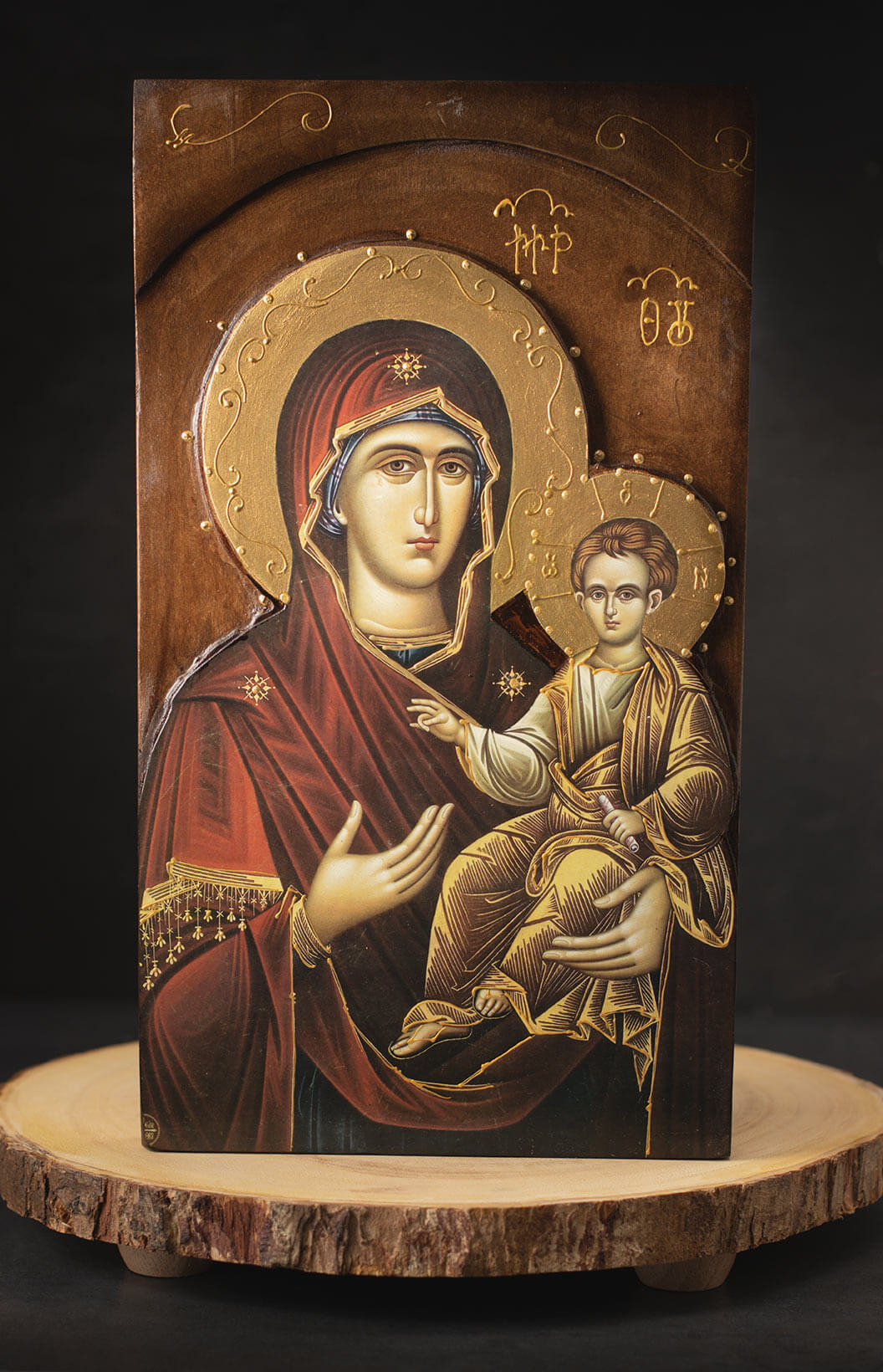 Virgin-Mary-and-Baby-Jesus-On-Wood-Board-1