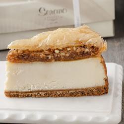 Baklava Cheesecake Slice