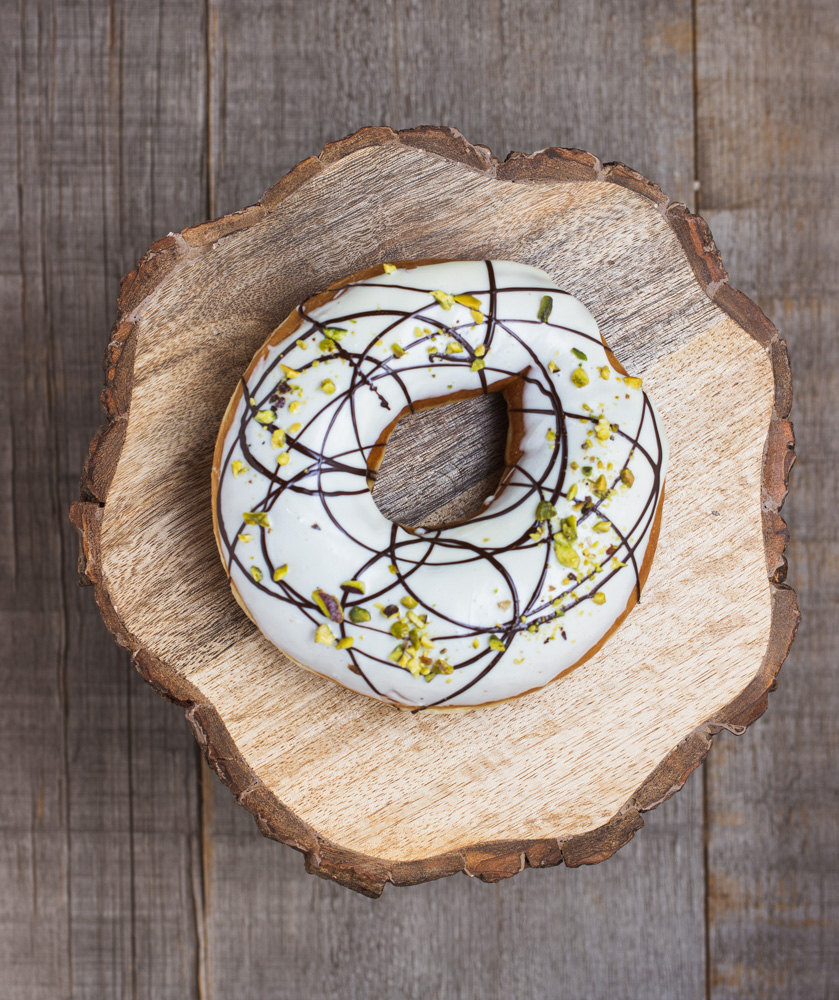 White Chocolate & Pistachio Donut