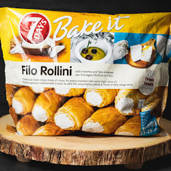 Filo Rollini With Mizithra And Feta Cheese