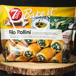 Filo Rollini With Spinach And Mizithra And Feta Cheese