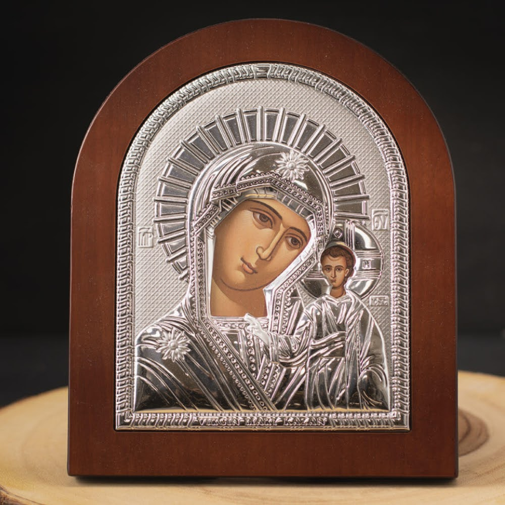 virgin-mary-and-baby-jesus-on-silver-and-wood-board